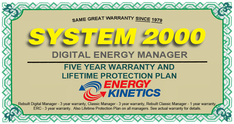Energy Kinetics Digital Manager Warranty