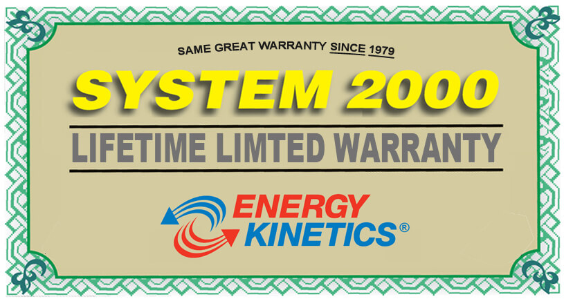 Energy Kinetics System 2000 Warranty