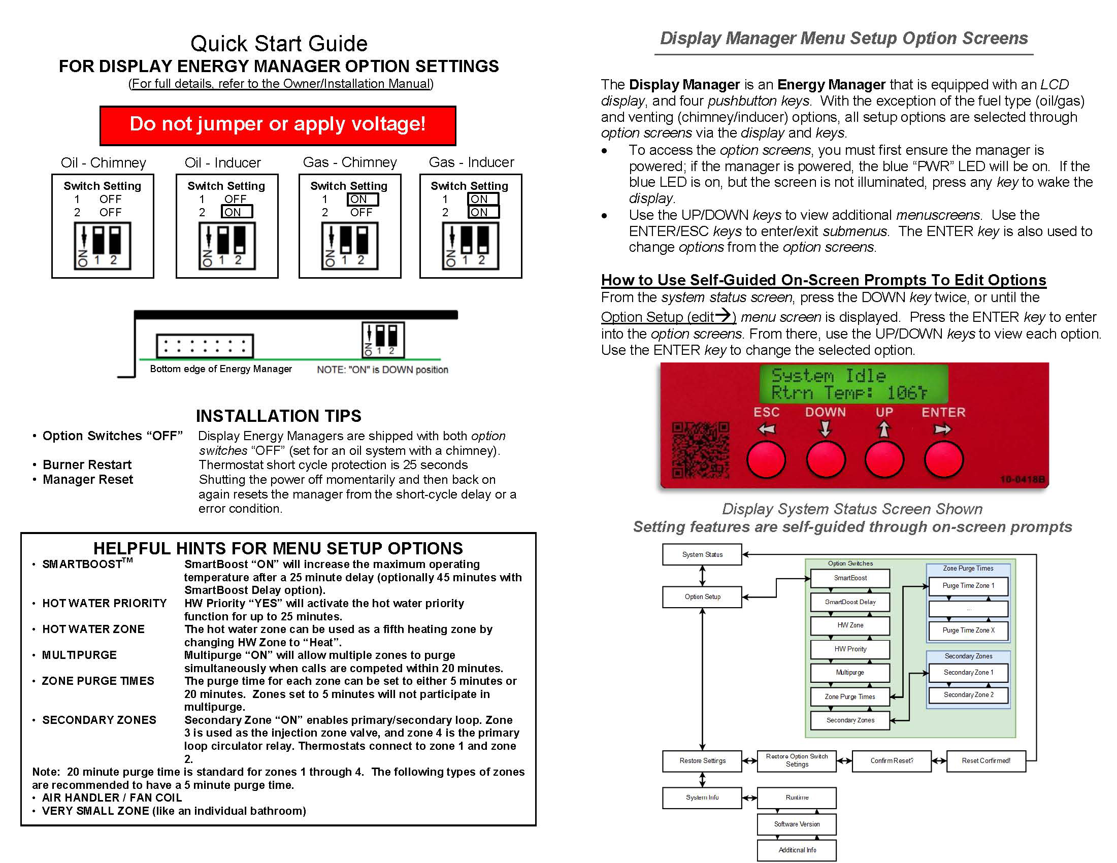Display Energy Manager Kinetics Wiring Diagram For Boiler System View Quick Start Installation Guide