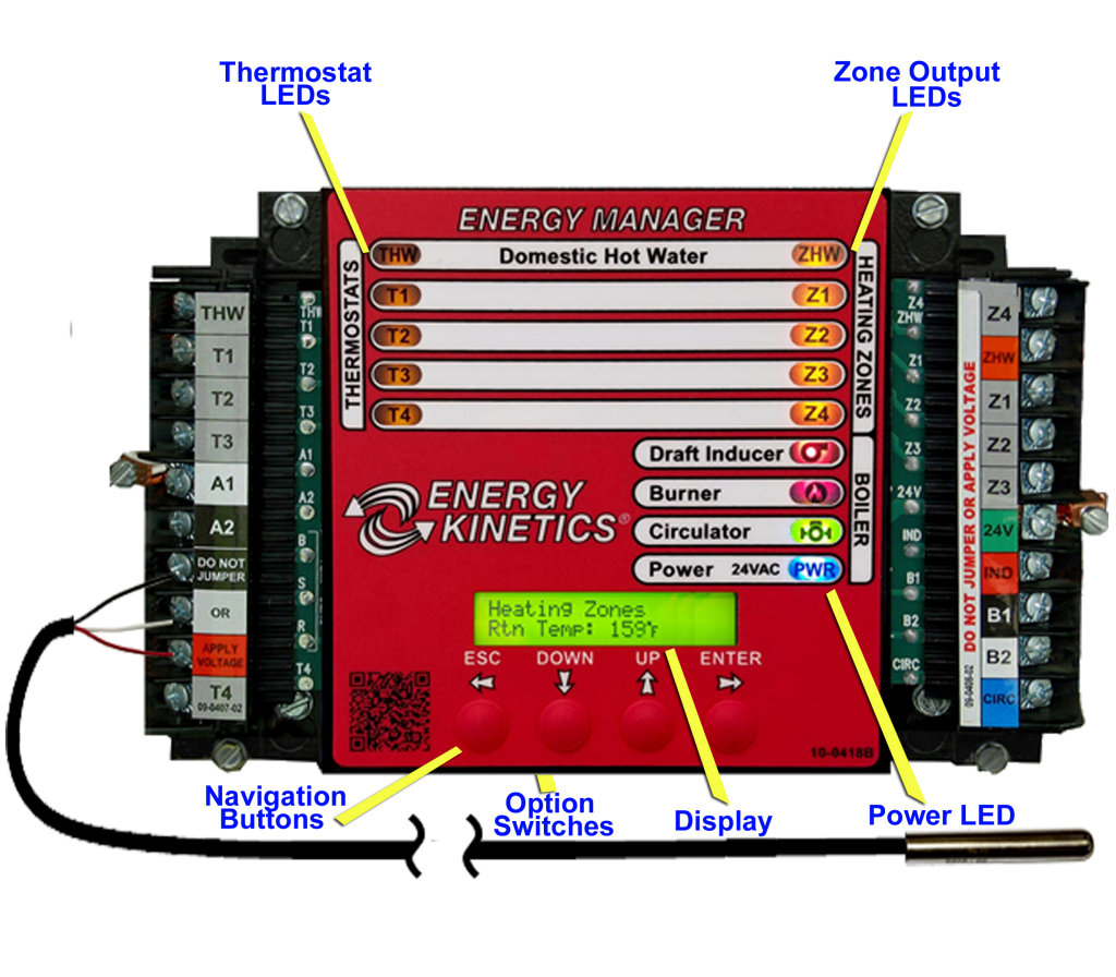 Display Energy Manager Kinetics Central Heating Boiler Wiring Diagram