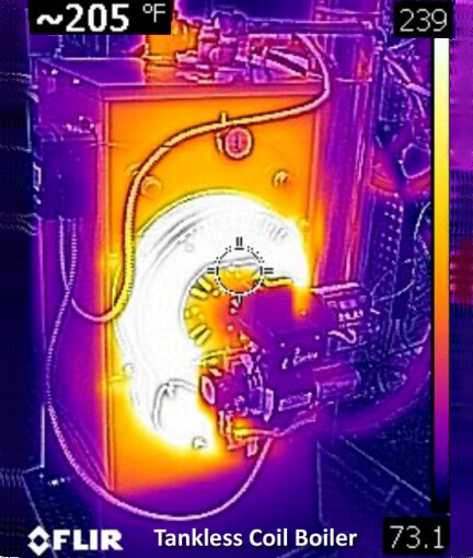 Typical Tankless Coil Boiler Infrared