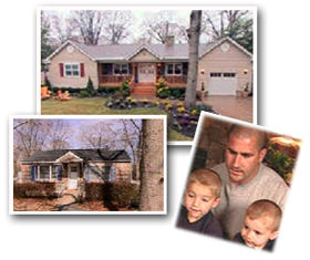 Vitale family from Long Island, New York with their before and after photos of their Extreme Makeover Home Edition.
