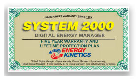 Digital Energy Manager Warranty