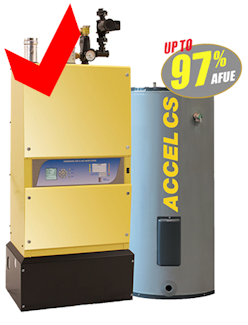 Accel CS - the strongest and most efficient condensing boilers on the market.